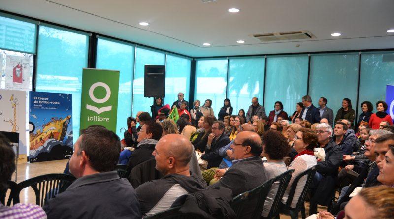 Públic assistent a la presentació del nou segell de Santillana