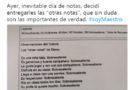 """Un professor a Sevilla modifica els cànons de notes i posa """"unes altres"""" als seus alumnes."""